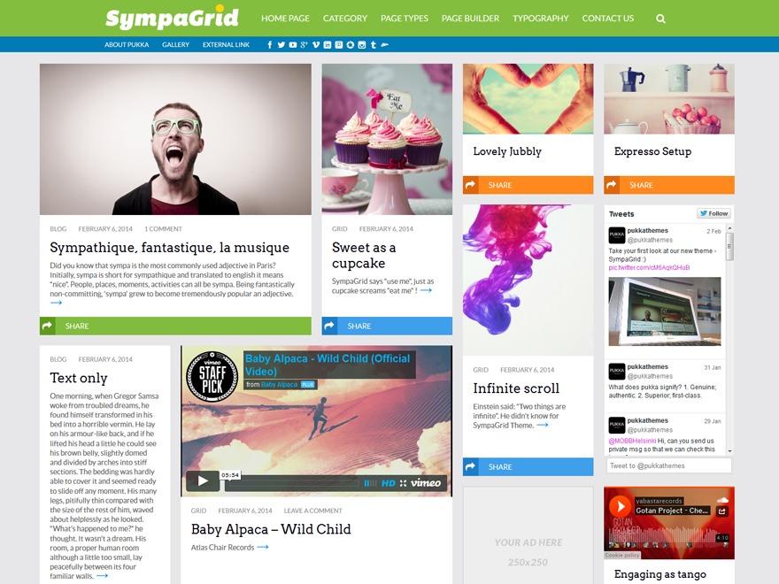 Sympagrid best WordPress template