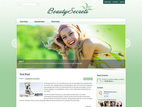 Template WordPress BeautySecrets
