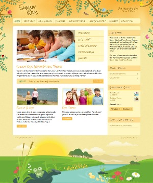 Template WordPress Sunny Kids WordPress