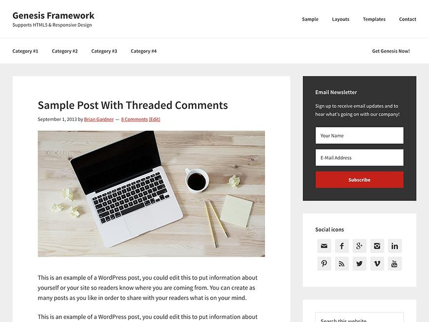 Theme WordPress Genesis Sample