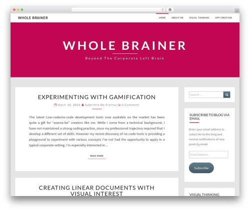 Theme WordPress Nisarg - wholebrainer.com