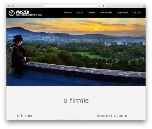 Theme WordPress Onetone - waszek.pl