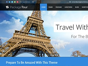 Tour Package WordPress website template