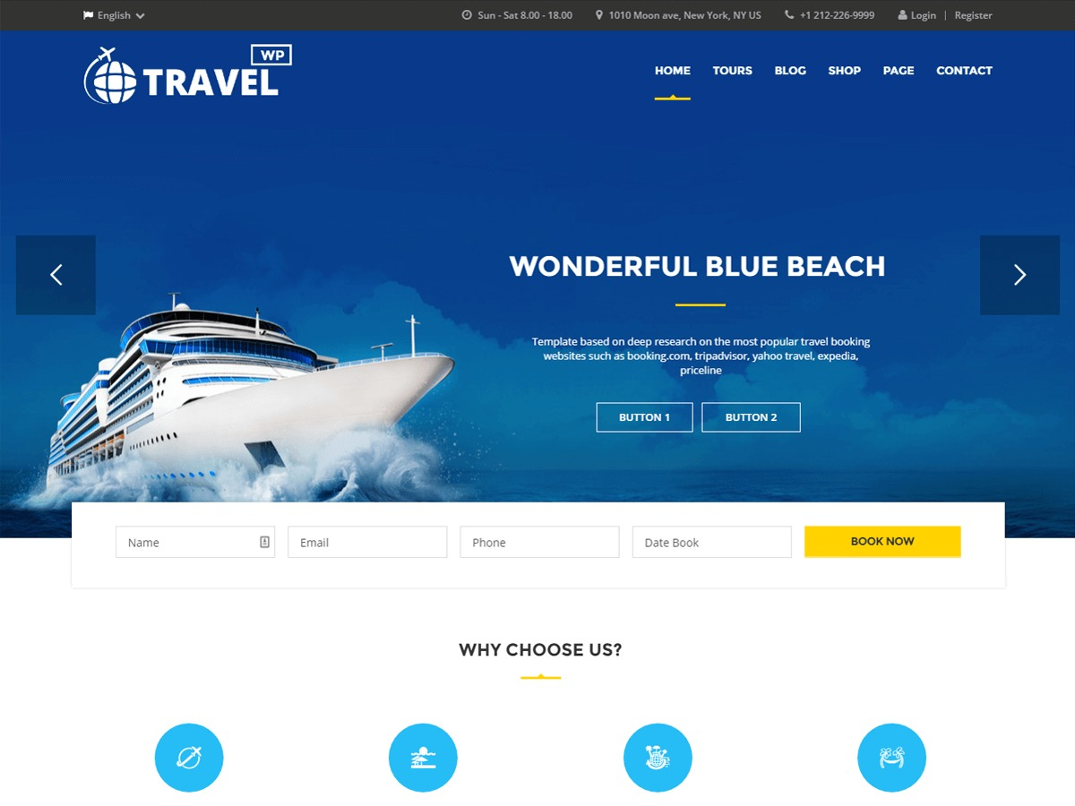 TravelWP WordPress blog template