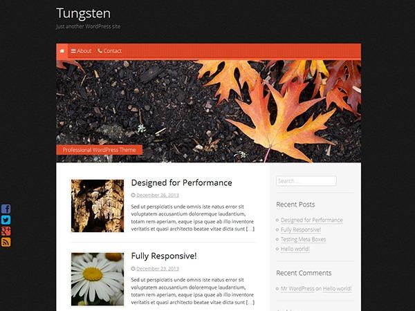 Tungsten template WordPress free