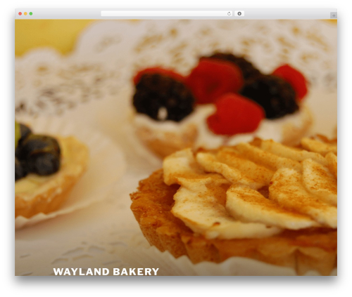 Twenty Seventeen template WordPress free - waylandbakery.com