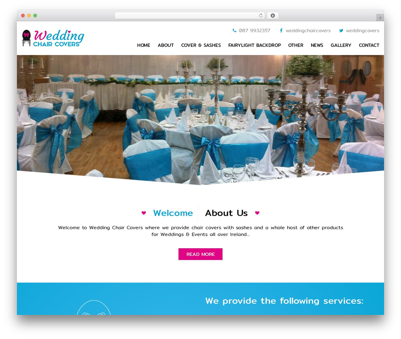 Twenty Twelve theme WordPress free - weddingchaircovers.ie