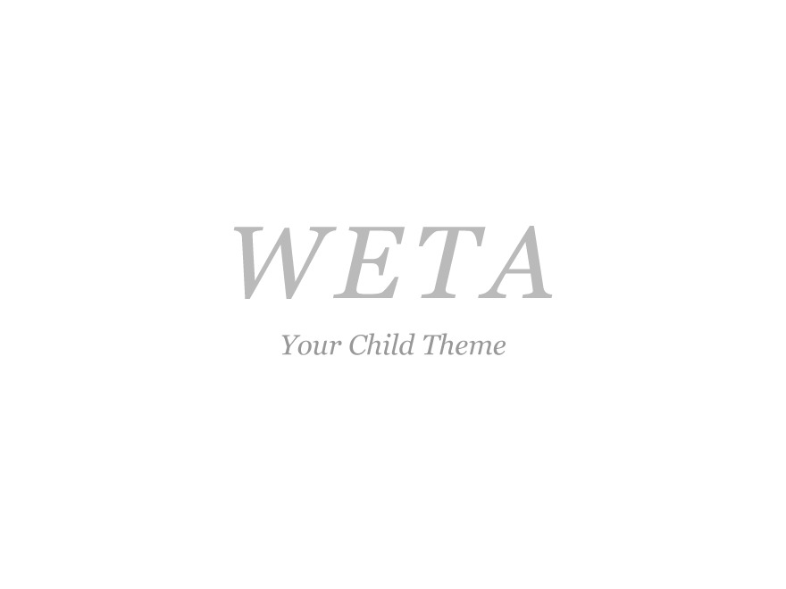 Weta Child WordPress template