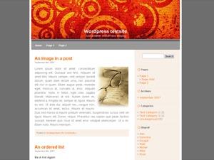 WordPress template LiasOrangeC
