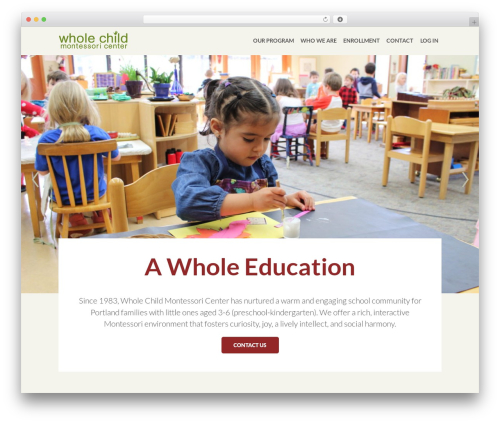 WordPress new-royalslider plugin - wholechildmontessori.org