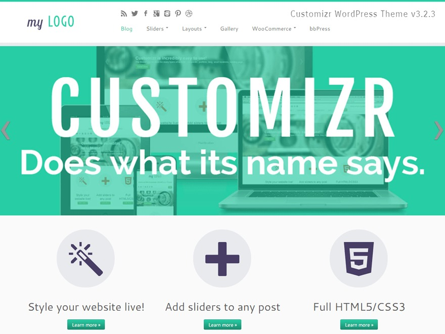 WordPress theme customizr_child
