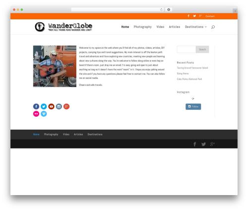 WordPress theme Divi - wanderglobe.com