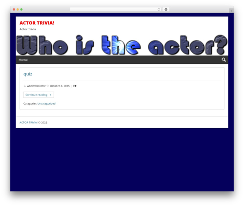 Free WordPress SlickQuiz plugin - whoistheactor.com