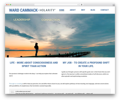 WordPress theme jupiter - wardcammack.com