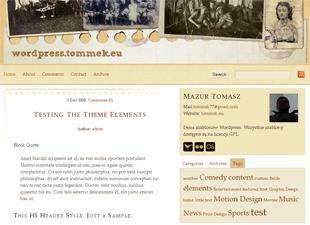 WordPress theme MT white