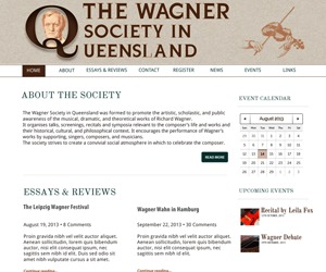 WordPress theme Wagner Socity in Queenlsand