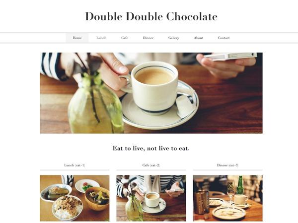 WordPress website template Double Double Chocolate