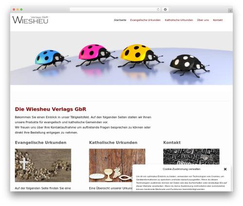 WordPress website template Flat Responsive Pro - wiesheu-verlag.de