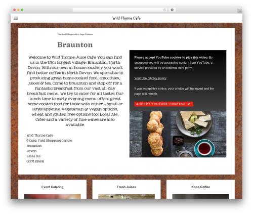 WordPress website template Responsive - wildthymecafe.co.uk