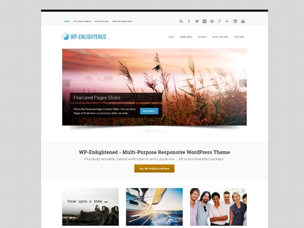 WP-Enlightened best WordPress theme