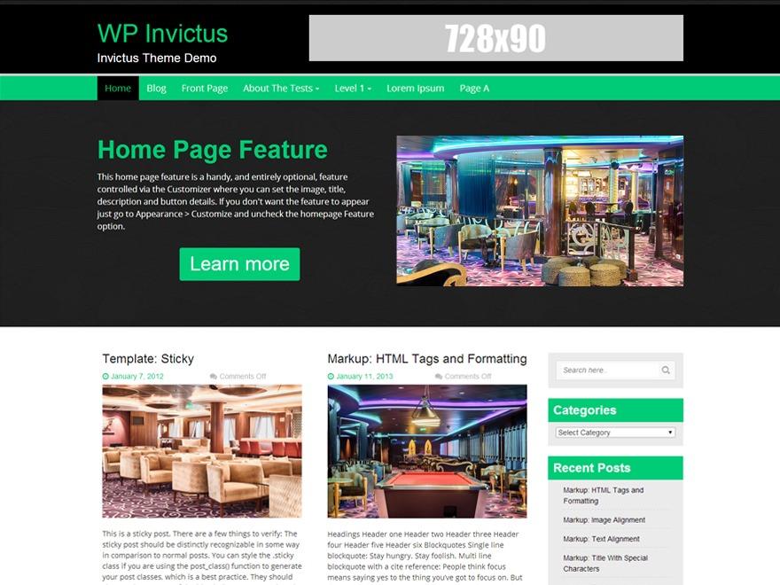 WP Invictus WordPress blog theme