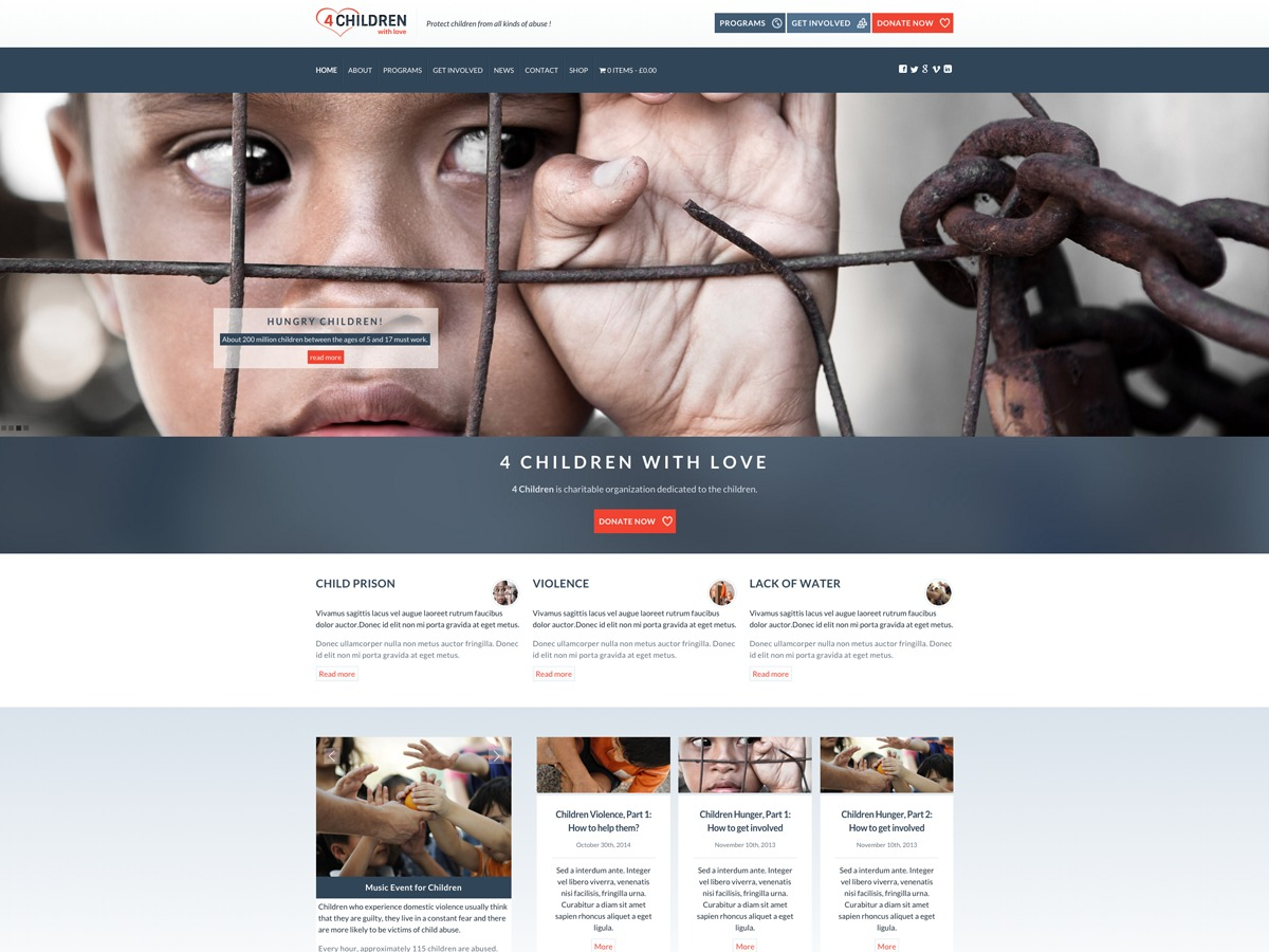 WP template 4ChildrenwithLove