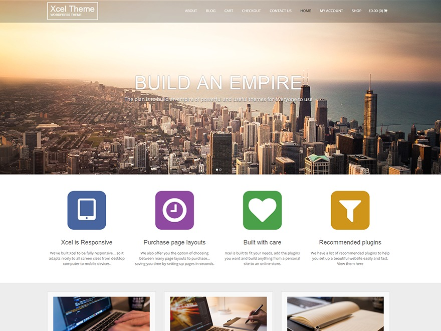 Xcel WordPress template for business