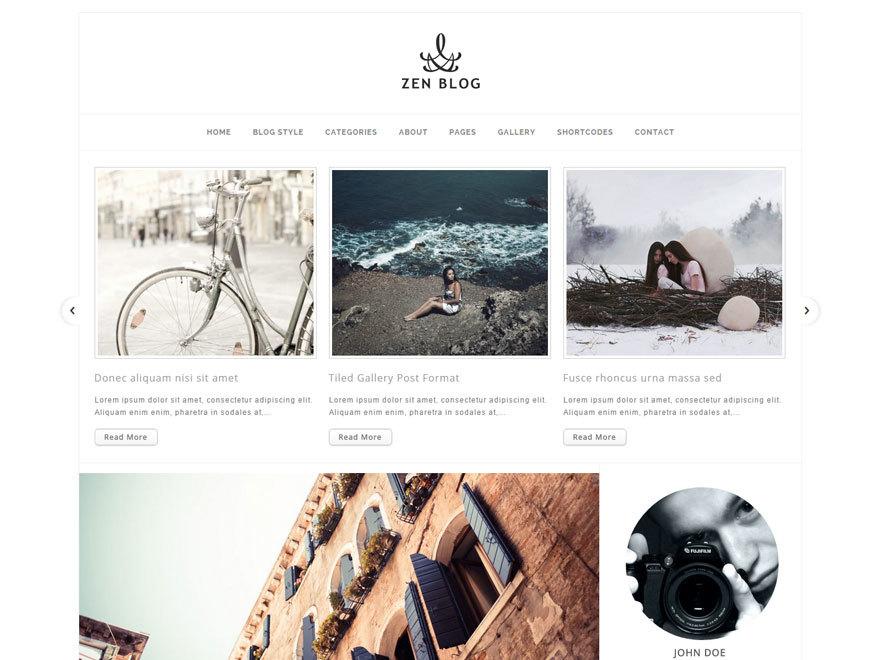 ZenBlog-Theme WordPress blog template
