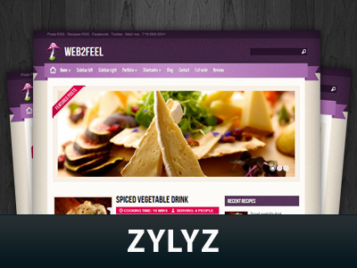 Zylyz food WordPress theme