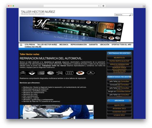 Auto Dezmembrari WordPress page template - tallerhnunez.com