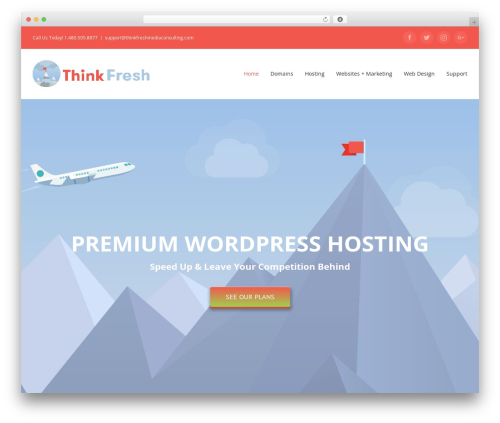 Avada WordPress theme - thinkfreshmediaconsulting.com