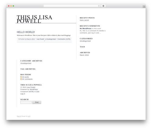 Best WordPress template blog.txt - thisislisapowell.com