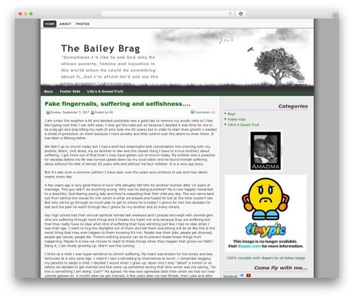 Best WordPress template Lonelytree - thebaileybrag.com