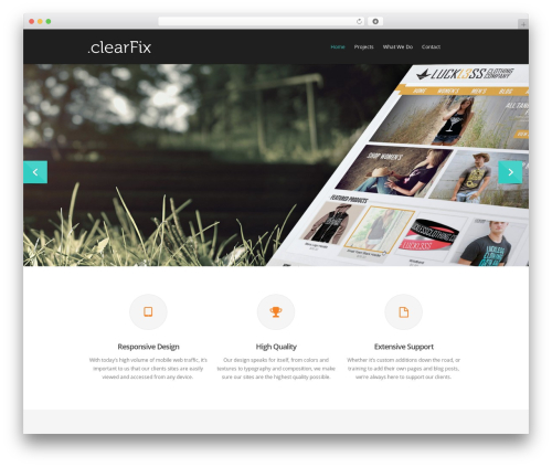 Best WordPress theme Salient - madebyclearfix.com