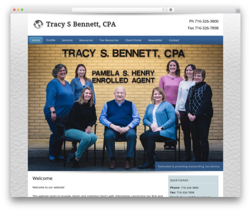 Customized theme WordPress - tracybennettcpa.com
