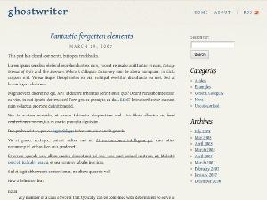 Ghostwriter WordPress theme