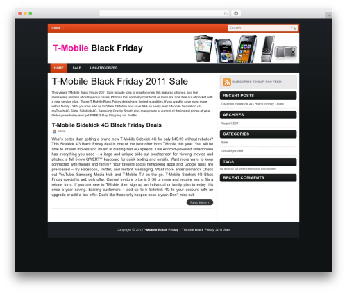 iMobile premium WordPress theme - t-mobileblackfriday.com