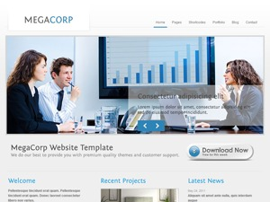 Megacorp company WordPress theme