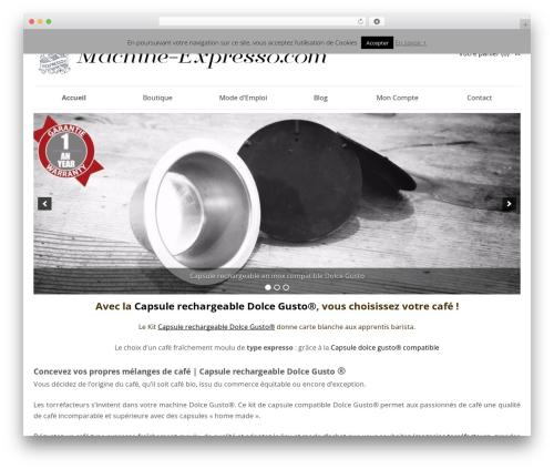 SmartShop WordPress ecommerce theme - machine-expresso.com