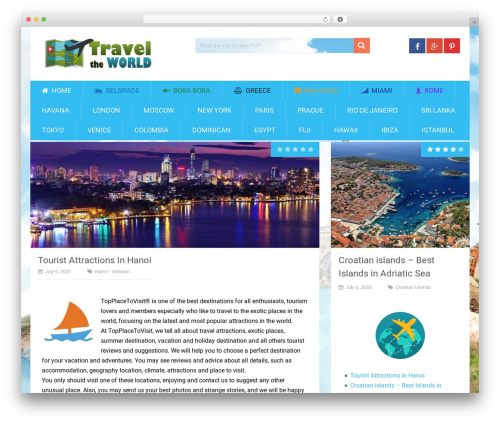 Free WordPress WP Review plugin - topplacetovisit.com