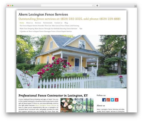 Theme WordPress SKT Biz - timakersfenceservices.com