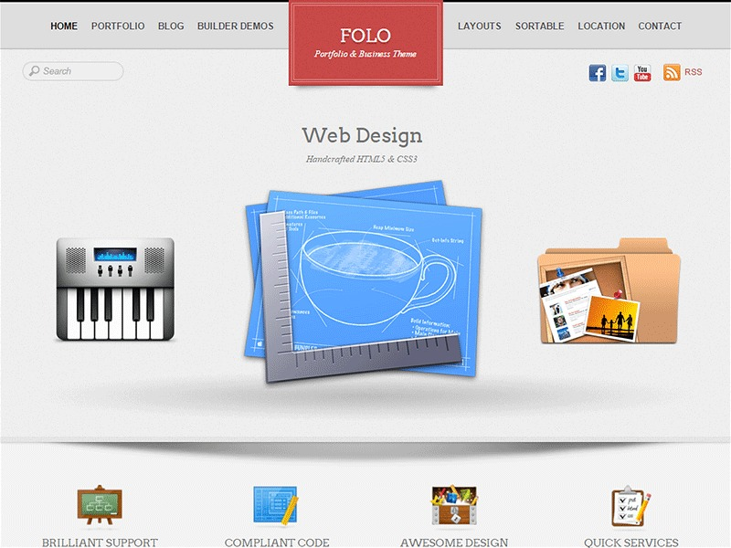 Themify Folo WordPress theme