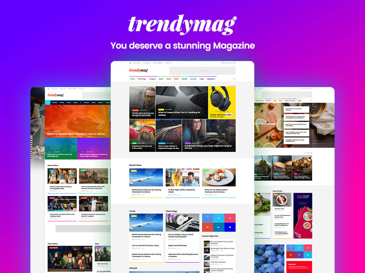 TrendyMag WordPress blog theme