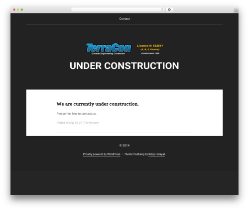 WordPress template Padhang - terraconconstructors.com