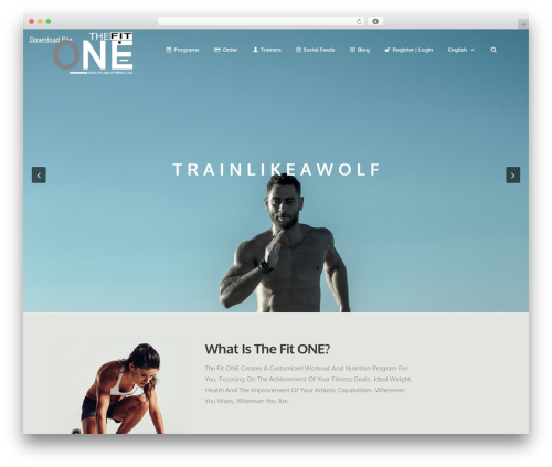 WordPress website template Action - thefit-one.com
