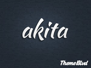 WordPress website template Akita