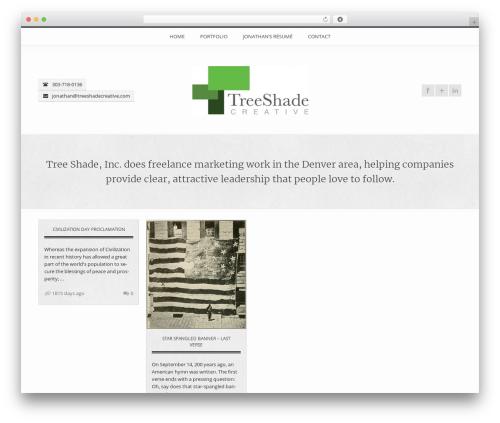 WP theme FireFly - treeshadecreative.com