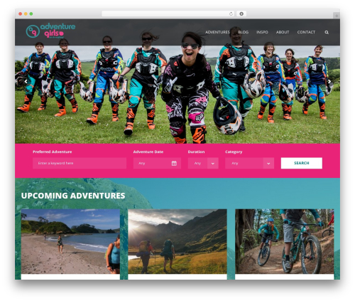 Aventura WordPress page template - adventuregirls.co.nz