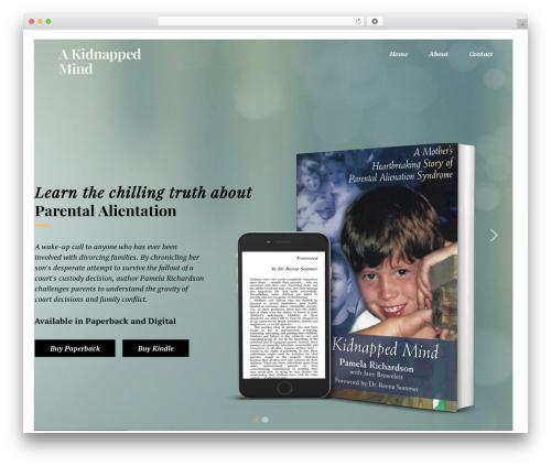Booker premium WordPress theme - akidnappedmind.com