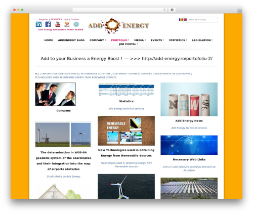 Higher WordPress portfolio template - add-energy.ro